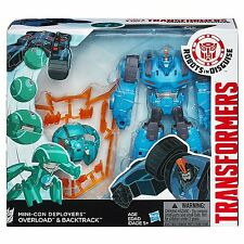 TRANSFORMERS ROBOTS IN DISGUISE MINI-CON DEPLOYERS OVERLOAD AND BACKTRACK FIGURE