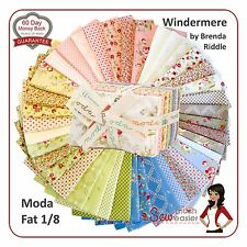 Moda Windermere Fat Eighth Bundle Quilt Fabric vintage shabby-chic floral 30s