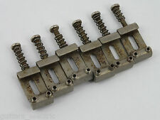 Aged PAT. PEND. BENT STEEL BRIDGE SADDLES for Stratocaster Tremolo Bridge