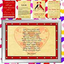 PERSONALISED LOVE PRINT VALENTINES DAY PRESENT FOR HIM OR HER, MAN OR WOMAN