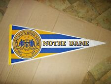 vintage university of notre dame full size pennant shows university seal