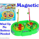 Kids Children Fishing Rods Games Magnetic Wind Up Toys