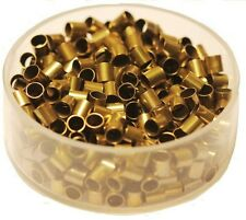 Vintage Brass Tube Crimp Beads 3 x 3 Mm Pkg.of 100 P. (Hole 2.5 mm ) Raw Brass