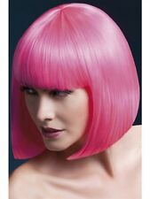 Elise Wig Neon Pink Short Bob New Adult Halloween Cristmas Womens Accessories