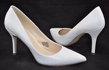 Nine West 'Flax' Women's White Leather Pointed Toe Pumps Size 8.5 M