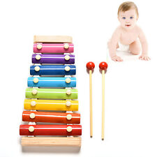Cute 8 Tone Xylophone Musical Toys Wisdom Development Wooden Toy for Baby Kid LE