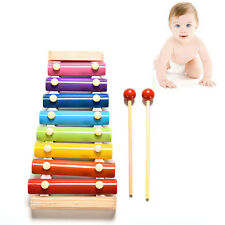 1X Cute 8 Tone Xylophone Musical Toys Wisdom Development Wooden Toy for Baby Kid