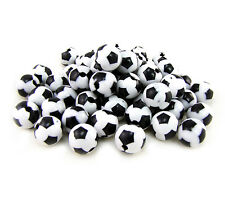 Lot 20 Perles Ballon de football Acrilique 8mm, creation bijoux, attache tetine