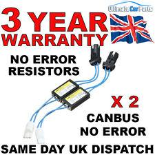 2 LED T10 501 Luces Laterales resistencias de carga canceladores de error no error 3Yr Garantía