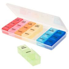 Assured 7-Day Plastic Pill Organizers with Cases US Seller Free Shipping