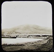 Glass Magic Lantern Slide CAPE TOWN & TABLE MOUNTAIN C1890 SOUTH AFRICA