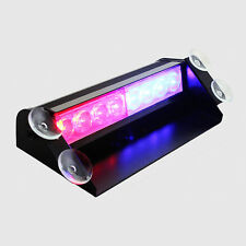 Car Truck Police Strobe Flash Light Dash Emergency 3 Flashing Mode Red Blue