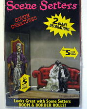 Halloween Decoration Haunted House Couch Skeleton Creatures Scene Setter 2 PK