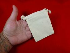 24 PACK 3x4 MUSLIN DRAWSTRING BAGS Small Plain Natural Heavyweight Cotton Pouch