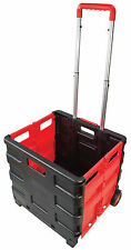 25 KG RICHIUDIBILE SHOPPING TROLLEY stoccaggio Boot CARRELLO BOX CRATE AUTO FURGONE CAMPEGGIO
