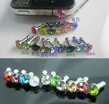 rhinestone dust plug earphone headphone Headset Jack Cap iphone samsung sony UK