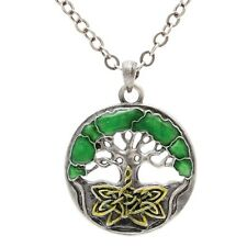 Celtic Endless Knot Tree of Life Pewter Necklace Pendant Jewelry J131