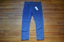 DOLCE & GABBANA D&G AMAZING TIGHT FIT RUNWAY BLUE CORDUROY CASUAL PANTS S 31