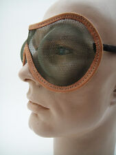 NOS Metal Mesh GOGGLES Steampunk Gothic Motorcycle Hot Rat Fetish VTG INDUSTRIAL