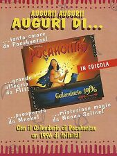 X0866 Calendario di Pocahontas - Pubblicità del 1995 - Vintage advertising