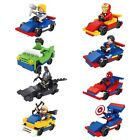 Marvel DC Avengers with Vehicle Lot of 16 Set Building Minifigure Kids Toy