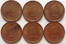 Malaysia 1 sen 1981 coin 6 pcs