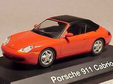 Schuco Porsche 911 Cabriolet Red 1/43 Scale Model Diecast