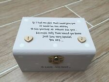 Shabby Personalised chic Box Best Special Sister Sentimental Trinket Jewellery
