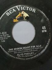 """ELVIS PRESLEY 45 RPM """"One Broken Heart For Sale"""" """"They Remind Me Too Much"""" VG-"""