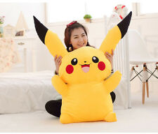 80CM Big Digimon Pikachu Pokemon Plushies Giant Large Stuffed Toy Doll Pillow