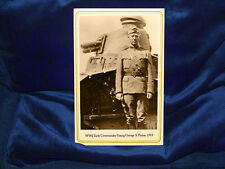 WWI Tank Commander George S Patton 1918 Cabinet Card Photograph Vintage RP