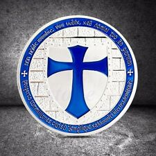 Silver Plated Cross Crusader Knights Templar Commemorative Coin Art Collection