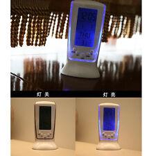 LED electronic luminous flying alarm clock Snooze Thermometer Calendar practical