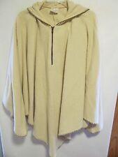 Style Studio women one size 4X Beige hoodie cape sweater Lot#2
