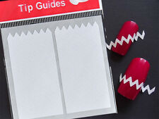 10 bags White ZiG ZaG Stencils Nail Art French Guide Tips Stickers Manicure DIY