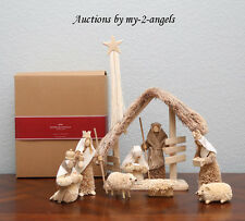 NEW RARE Pottery Barn Christmas BOTTLE BRUSH NATIVITY SET 10-Piece - SOLD OUT!