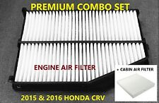 Premium Combo set Engine & Cabin Air Filter for 2015 2016 Honda CRV CR-V