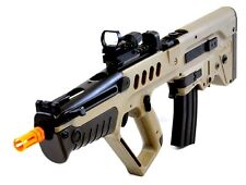 IWI Tavor Model 21 AEG Automatic Airsoft Rifle Desert Tan Red Green Dot Sight