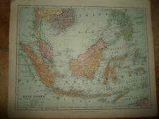 MAP c1920 EAST INDIES Taken From Stanfords London Atlas of Universal Geography