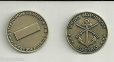 USN NAVY BROWN WATER VIETNAM PROUDLY SERVED  DUTY HONOR COUNTRY  CHALLENGE COIN