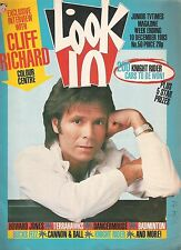 CLIFF RICHARD cover-poster- 2 page article   Lookin  magazine 1983 Howard Jone