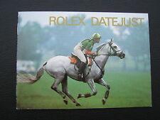 ROLEX DATEJUST BOOKLET VON 1994 - 16234 16233 16200 69173 - LAGERWARE- ENGLISCH