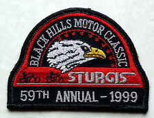 """""""USED"""" 1999 59th ANNIVERSARY STURGIS CHAMBER HARLEY RALLY PATCH"""