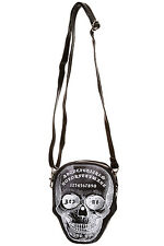 BANNED BLACK OCCULT OUIJA BOARD SKULL SIDE BAG POWER TRIP WITCHCRAFT GOTH NEW
