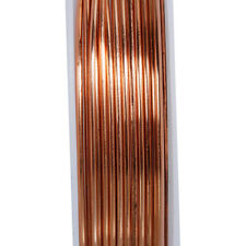 Rose Gold Wire 0.8mm x 2 Metres For Craft and Jewellery Making