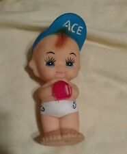 Vintage Baby Baseball Boy Squeak Squeeze Squeaky Toy Rubber Doll Baby
