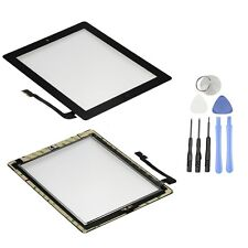New Replacement For iPad 3 4 3g Wifi Front Glass Digitizer Touch Screen Black CA