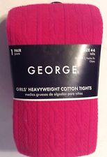 Winter Fashion Tights Fuchsia Pink Girls Size 4-6 Footed New in Package