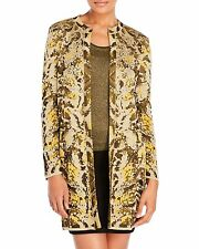 NWT $895 M MISSONI Metallic Chameleon Print Cardigan Sweater Coat 10 US 46 IT