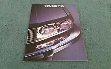 1980 RENAULT 30 TS TX MANUAL AUTOMATIC UK BROCHURE